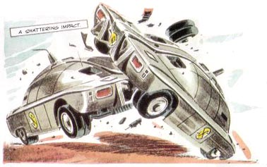 Spectrum Maximum Security Vehicles crashing into one another! (TV21, Issue 175)